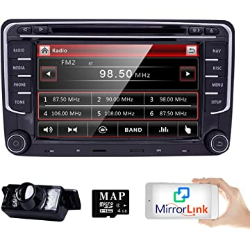 Amazon.com: Wifi Android 7.1.1 8 Inch Double Din Car DVD ...
