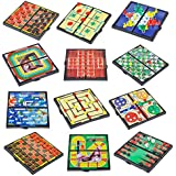 "4E's Novelty 12 Bast travel sized board games. These Magnetic Games Set Contains all of your classic favorites: Chess, Checkers, Tic-tac-toe, Backgammon and Chinese checkers are included. 5"","