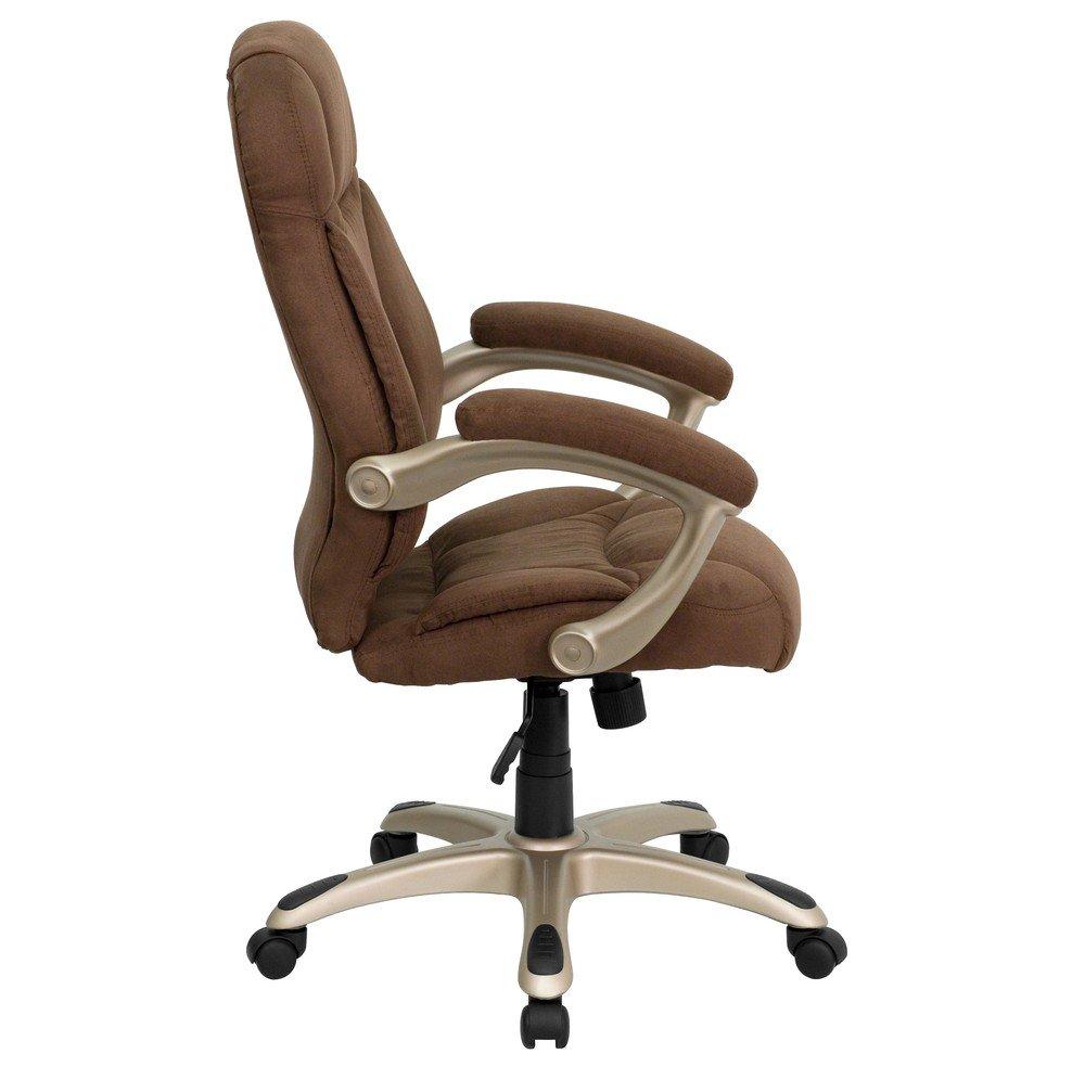 amazon com flash furniture high back gray microfiber contemporary