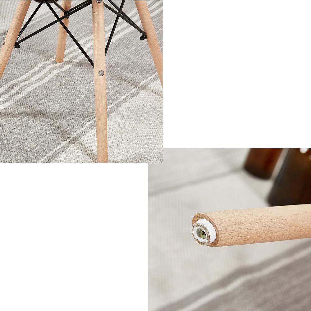 Eiffelstil matsalsstolar träben konstläder säte nordisk lounge stol för vardagsrum matsal sovrum kontor café 41 x 41 x 69 cm (färg: blå) Rosa
