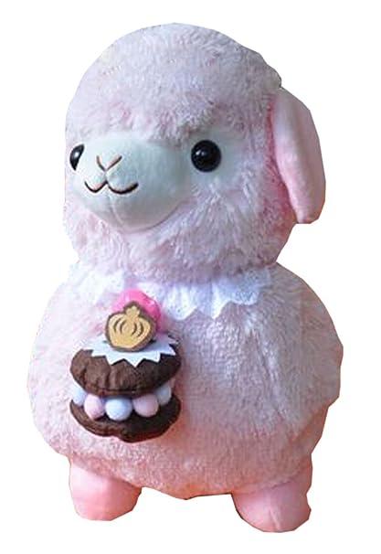 Muñeca de peluche para niños Cupcake oveja de peluche Alpaca de peluche de regalo rosa (