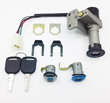 amazon com: gy6 4 wire key ignition switch atv scooter set 50cc 110cc 150cc  250cc moped: automotive