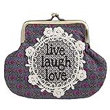 Natural Life Boho Kiss-lock Coin Purse Live Laugh Love