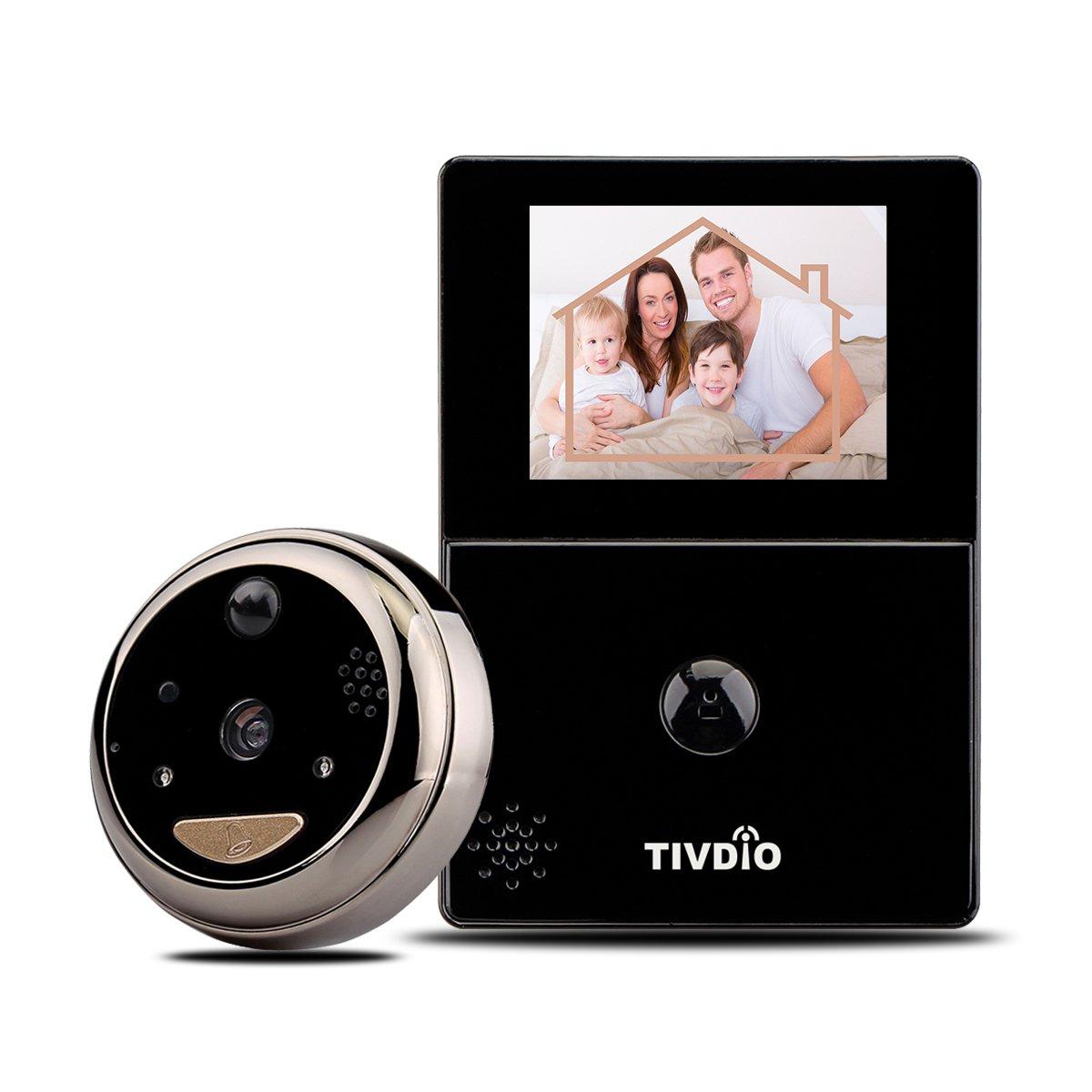 Front door peephole camera - Tivdio T 12d Peephole Viewer Doorbell Wi Fi Door Security Camera Monitor