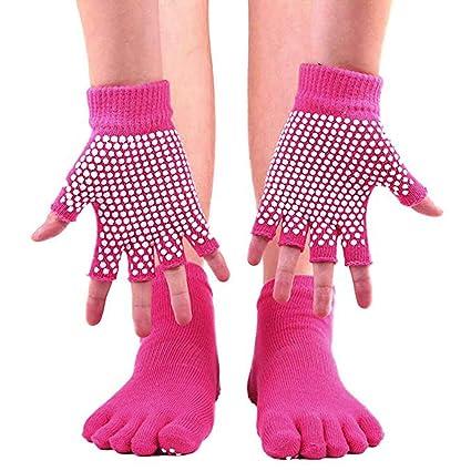 Calcetines y Guantes de Yoga para Mujer, Antideslizantes ...