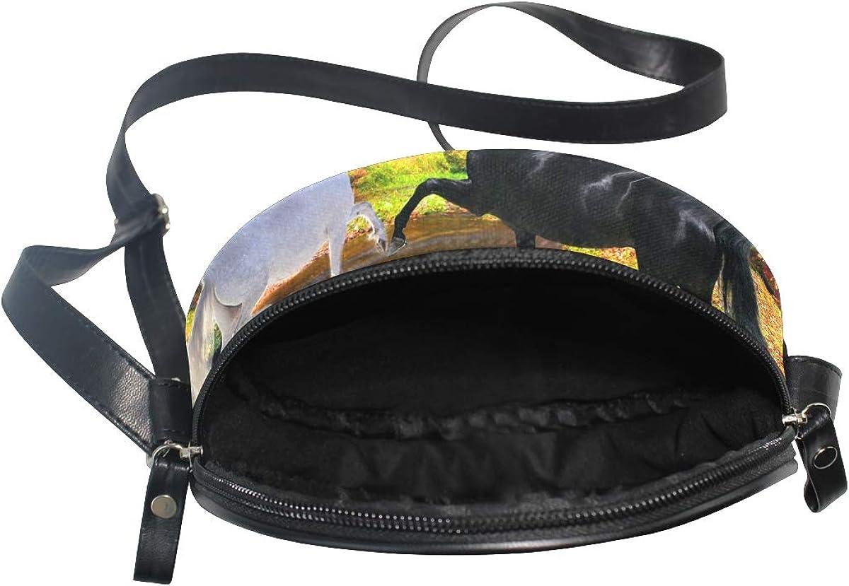Womens Crossbody Bags Gold Floral Pattern Girls Purse Handbags Bag