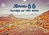 Nostalgie auf 2451 Meilen - Route 66 (Wandkalender 2019 DIN A4 quer): Route 66, endlos lange Straße von Chicago (Illinois) nach Santa Monica (Kalifornien). (Monatskalender, 14 Seiten )