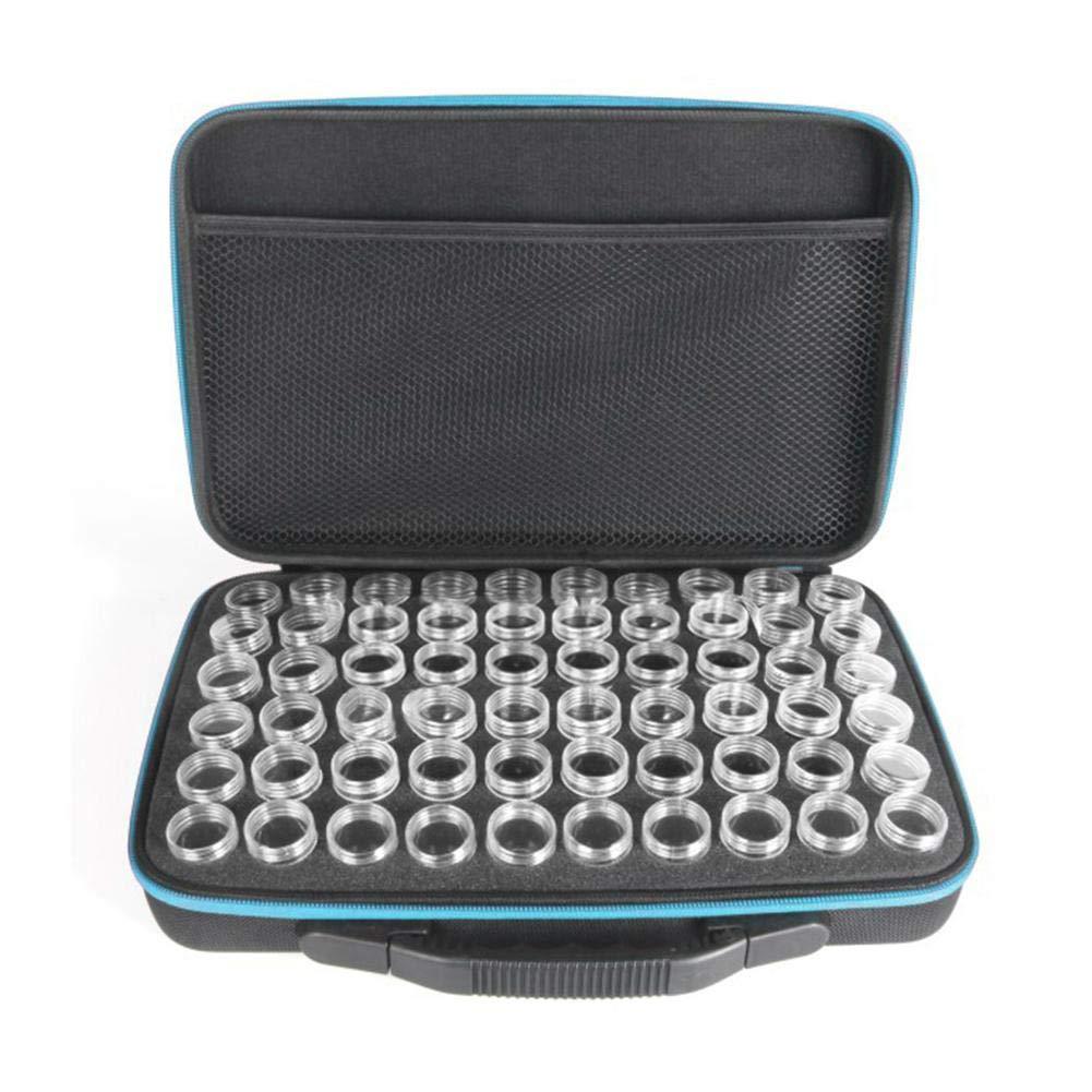 ttnight Beads Organizer, 60 Bottles Diamond Painting Charms Box Cross Stitch Tool Storage Bag - Blue