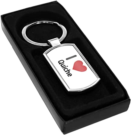 I Love Quiche Metal Keyring 2569