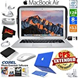 Apple 13.3 MacBook Air 128GB SSD (MQD32LL/A) + iBenzer Basic Soft-Touch Series Plastic Hard Case & Keyboard Cover for Apple Macbook Air 13-inch 13 Blue + 3 Foot Lightning USB Cable (1 Meter) Bundle