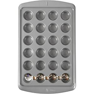 Wilton Ever-Glide Muffin Pan, Enjoy Home Warm homemade Muffins Right out of Your Oven, Cup Cakes, Roasted Veggies, Shredded Potato Egg Cups and More, 24-Cup