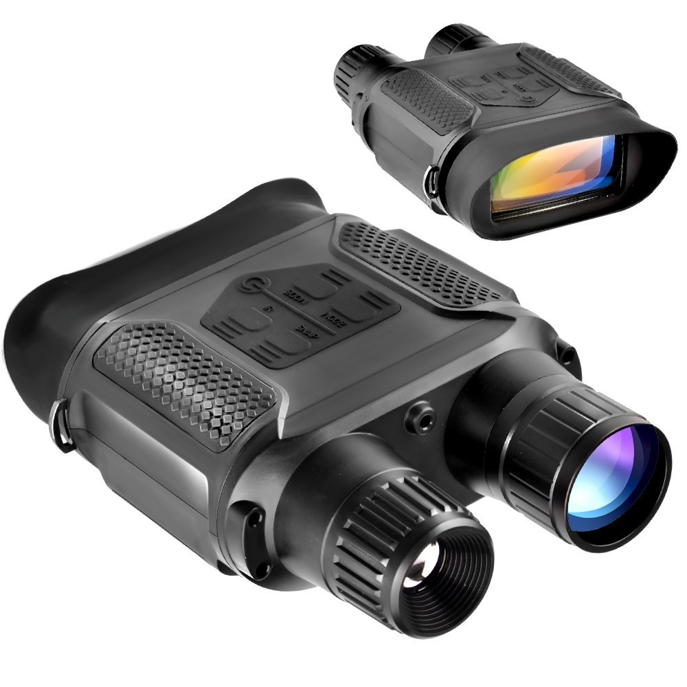 Night Vision Binocular, Digital Infrared Night Vision Scope - 640x480p HD IR Photo Camera & Camcorder Clearly See Up to 400m/1300ft, 7x Magnification in the Darkness, 4'' Large Viewing Screen