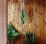 Pooja ki Potli Macrame Bottle Planter/Plant Hanger Cotton Cord-Handmade Decorated with beads-Indoor Outdoor Boho Interior Decor Garden Decor Home Decor-Waste Bottle Planter