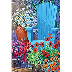 Toland Home Garden Adirondack Arrangement 12.5 x 18 Inch Decorative Spring Summer Flower Floral Garden Flag