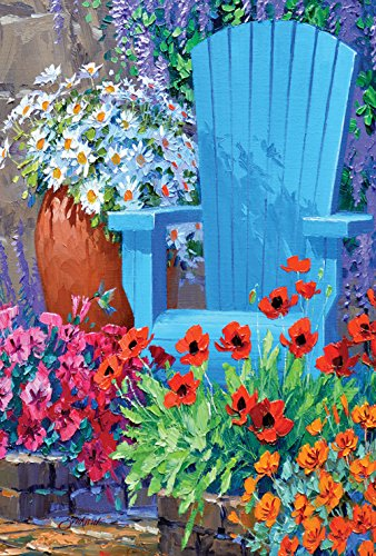 Toland Home Garden Adirondack Arrangement 28 x 40 Inch Decorative Spring Summer Flower Floral House Flag