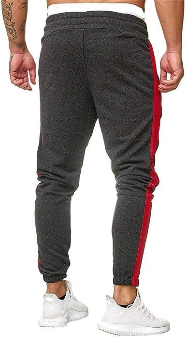 beautyjourneylove Nuovi Pantaloni Sportivi da Uomo Pantaloni Lunghi Pantaloni Tuta da Allenamento Fitness Pantaloni Sportivi da Uomo a Righe