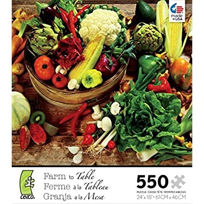Ceaco 550 Piece Farm To Table Vegetables Jigsaw Puzzle By Ceaco