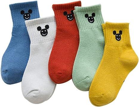 RUOHAN Calcetines para Niños 10 Pares Calcetines Niños Y Niñas ...