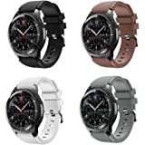 KOMI Watch Band Compatible with Samsung Gear S3 Frontier/Classic, Soft Silicone Replacement Band Wrist Straps Fit 22mm Band(A