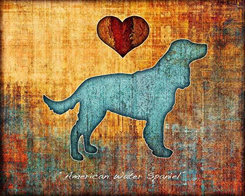 American Water Spaniel Dog Breed Art Print by Dan -