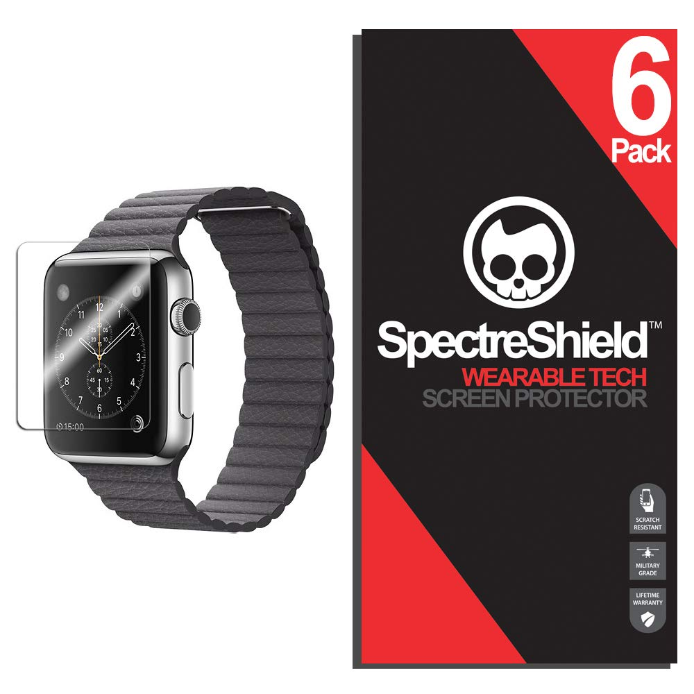[6 Pack] Apple Watch 42mm Screen Protector (Series 3 2 1) Spectre Shield iWatch Accessory Screen Protector for Apple Watch 42mm Series 3 Case Friendly Full Coverage Clear Film