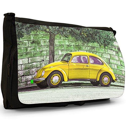 School Shoulder Large Canvas Classic Yellow Black Car Laptop Old Bag Beetle Messenger xOw1qHn