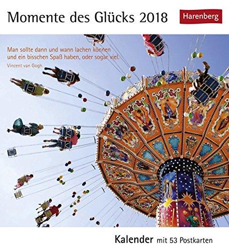 Momente des Glücks - Kalender 2018: Kalender mit 53 Postkarten