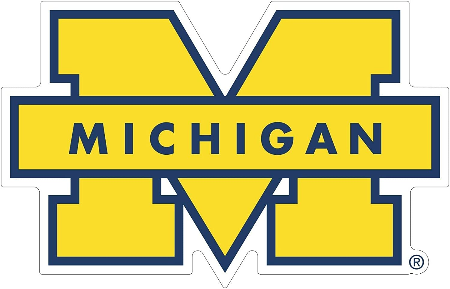 "University of Michigan Vinyl Stickers Wall Art //Any-Size//Football Michigan Wolverines Vinyl deacl for Car Bumper Truck Laptop Window Team Logo NCAA (4""x5"")"
