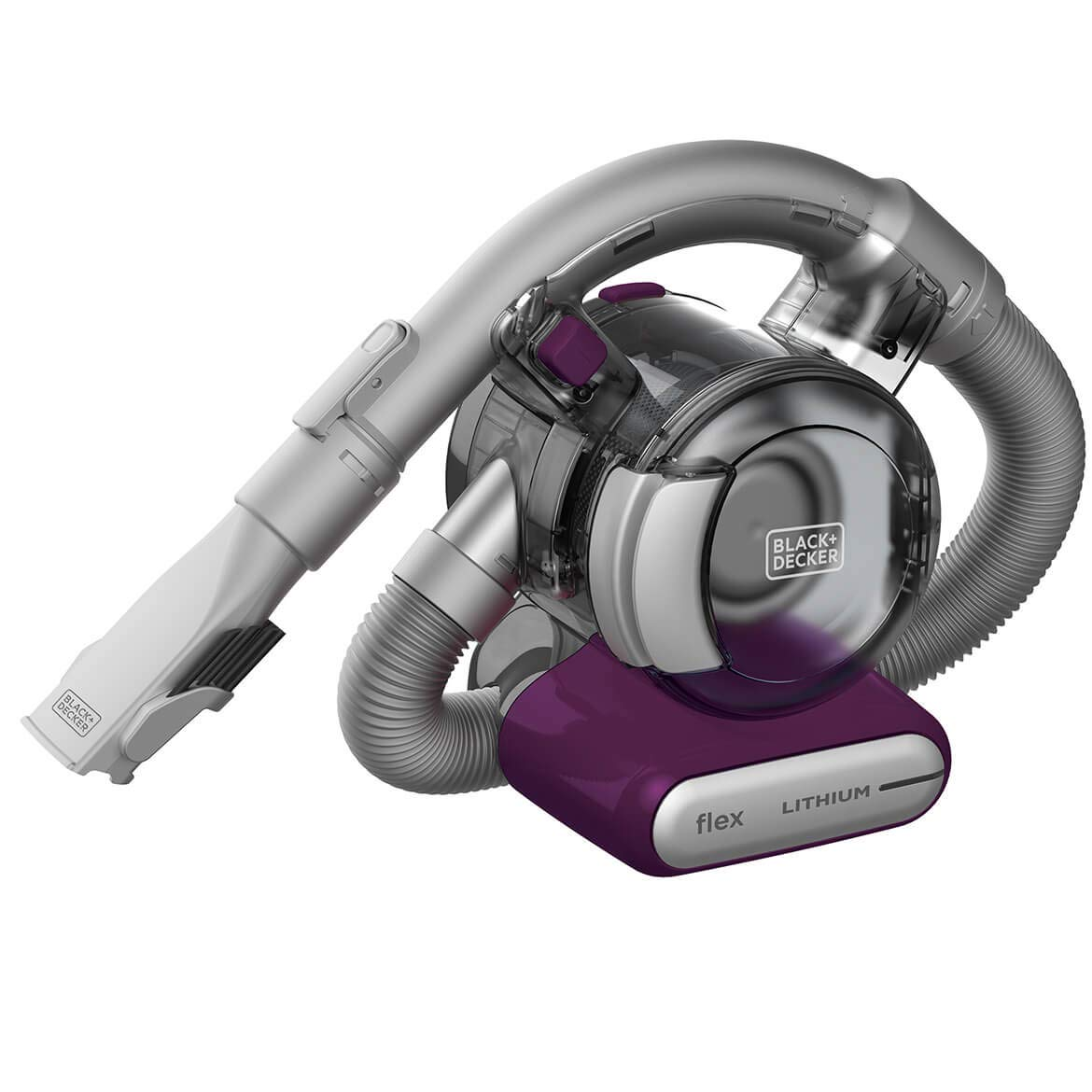 BLACK+DECKER Flex Handheld Cordless Vacuum, Eggplant (HFVB320J27) by BLACK+DECKER