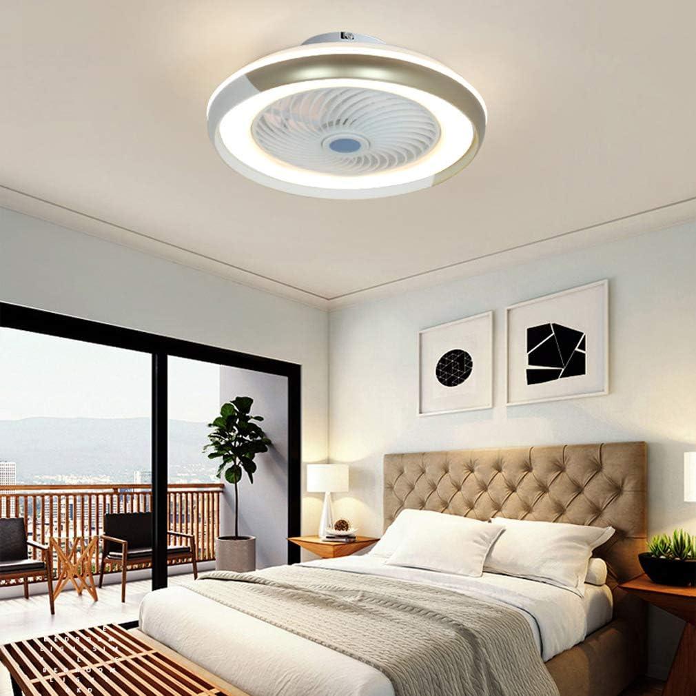 HKLY LED Invisible Ventilador de Techo con Luz y Mando a Distancia Ventilador Silencioso Control Remoto Regulables Tiempo L/ámpara de Techo para Sala de Estar Dormitorio Habitaci/ón Infantil 60W,Negro
