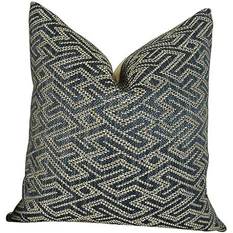 Plutus Brands Plutus Duncan Range Handmade Throw Pillow 22 X 22 Blue