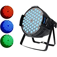 DJ PAR Light, 90W LED Wash Light with 54 RGB 3 in 1 Color Mixed LED,DMX512 Controlled Stage Light for Christmas Church Parties Birthday