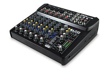 Alto professional zmx122 fx table de mixage compacte 8 voies avec