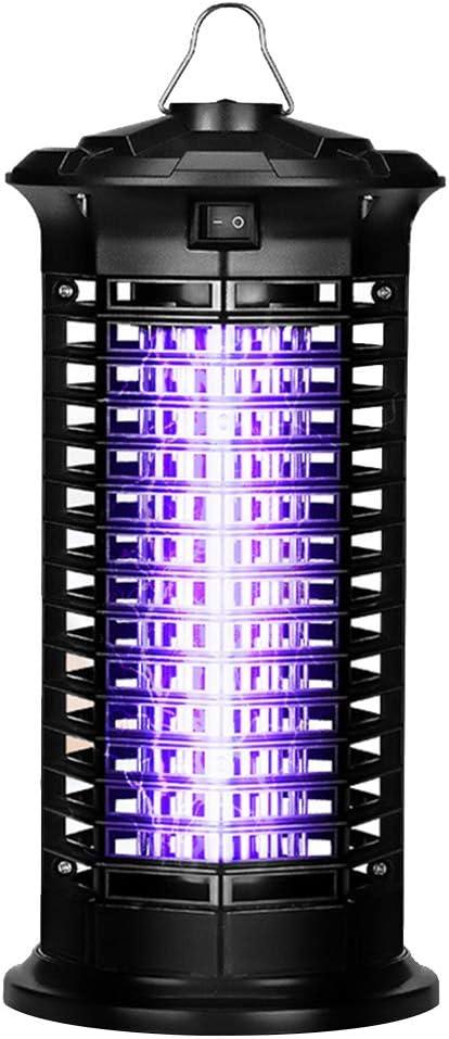 WYMI Lámpara Anti Antimosquitos Eléctrica,Prevención de Incendios insecticida UV Insectos Moscas Repelente para Repele sin Productos químicos Rejilla Alto Voltaje Silencioso Protección Interior Hogar