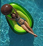 Flōtēz Inc. Luxury Inflatable Avocado Pool Float Lounge 5.5 x 3 Foot With Beach Ball Pit