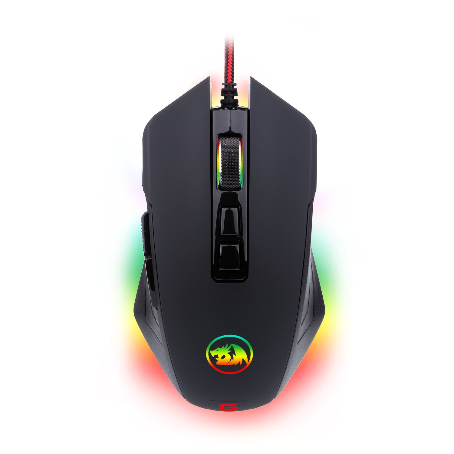 Gaming Mouse RGB LED Backlit Wired MMO PC Gaming Mouse M715-RGB Dagger by Redragon, Ergonomic High-Precision Programmable Gaming Mouse with 7 RGB Backlight Modes up to 10000 DPI User Adjustable