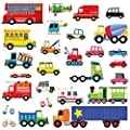 Decowall 27 Transports Kids Wall Stickers Wall Decals Peel and Stick Removable Wall Stickers for Kids Nursery Bedroom Living Room(1605 8004)