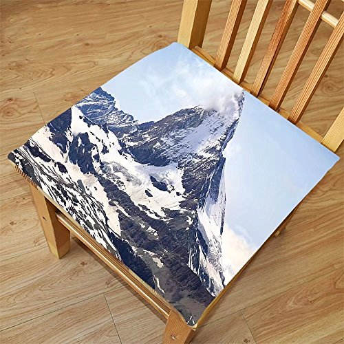Nalahome Set of 2 Waterproof Cozy Seat Protector Cushion Farmhouse Decor Matterhorn Summit with Cloud Mountain Scenery Glacier Natural Beauty Blue White Black Printing Size 18x18inch (Washer Dryer Summit)