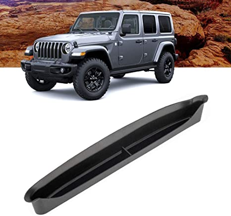 Anxingo GrabTray Passenger Storage Tray Organizer Grab Handle Accessory Box for Jeep Wrangler JL JLU 2018 2019 /& Jeep Gladiator JT 2020 Interior Accessories Black