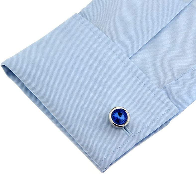 DUSHOULIAN Cufflinks for Men,Mens Cufflinks Creative Blue Diamond Cufflinks for Men Business Grandfather Dad Father Shirts Tuxedo Wedding Luxurious Fashion Jewelry Gifts Gift