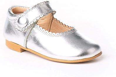 Zapatos Merceditas de niña con Cierre de Velcro. Estos Zapatos están Fabricado en Piel y Hechos en España - Mi Pequeña Modelo 1502I Color Plata.: Amazon.es: Zapatos y complementos