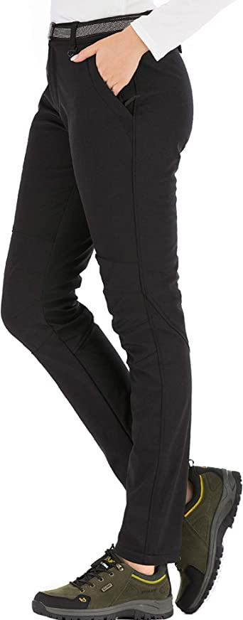 DAFENP Pantalones Trekking Mujer Invierno Impermeables Pantalones Termicos Monta/ña Senderismo Esqui Nieve Polar Forrado Aire Libre