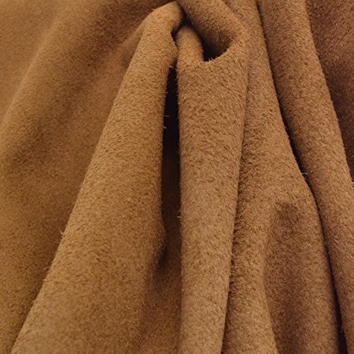 Suede 1/2 Chaps (Branded Leather Chap Cow Side Hide Rustic Tan 14.1 Sq Ft 3-3 1/2 oz Suede -13)
