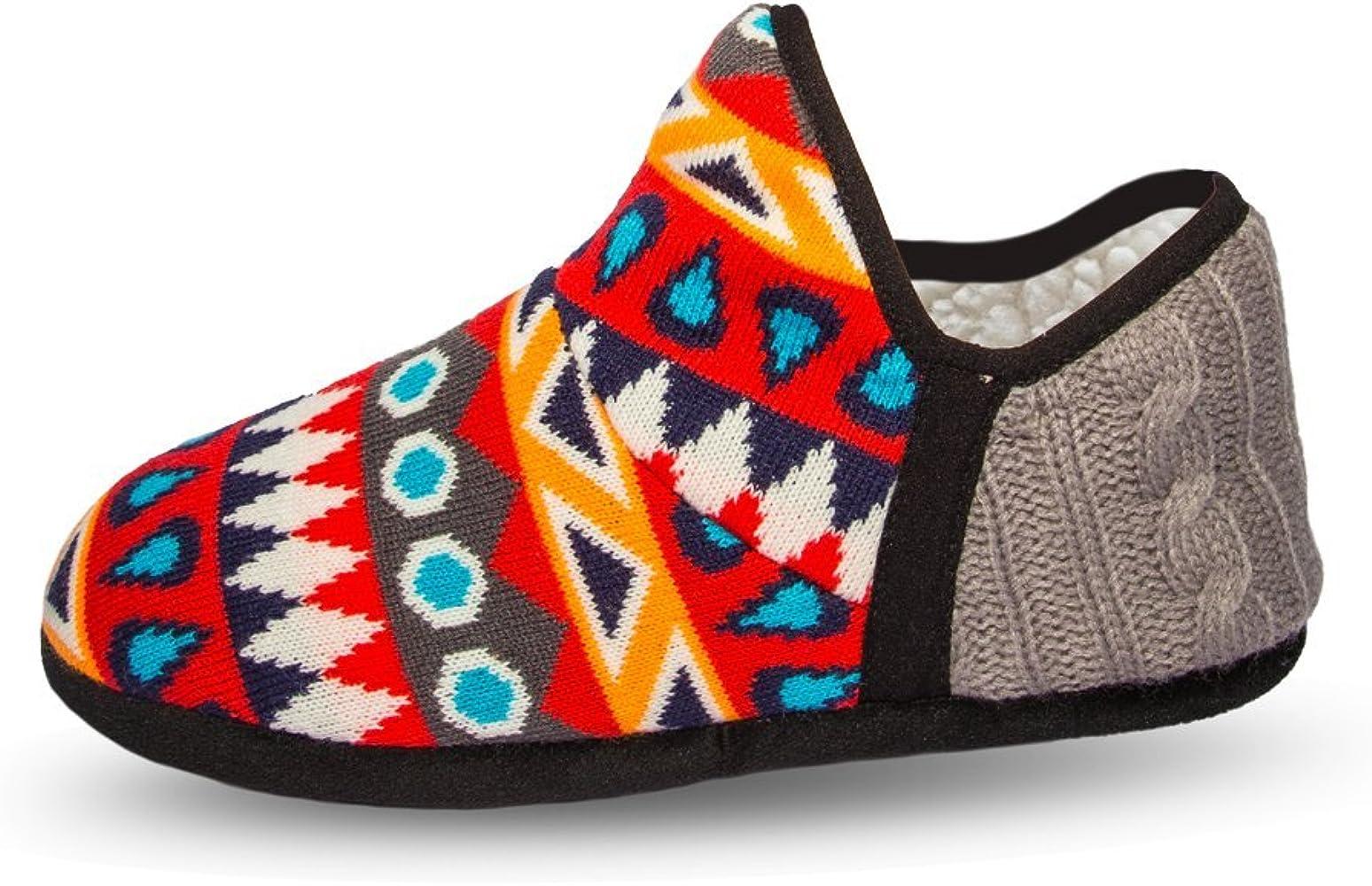Pudus unisex adult cozy memory foam winter slippers sherpa lining, indooroutdoor anti skid hard sole