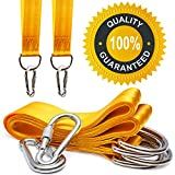 Secure Tree Swing Handing Kit – (Set of 2) 10ft Extra Long Yellow Straps ...