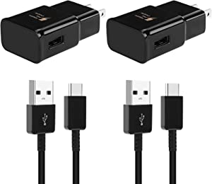 Adaptive Fast Charger Adapter with USB C Cable Kit Compatible with Samsung Galaxy S9 S8 S10 S10e S8/9/10Plus Note 8/9 Active, LG G6 G5 V30 V20, Google Pixel 2 Nexus 5X 6p and More