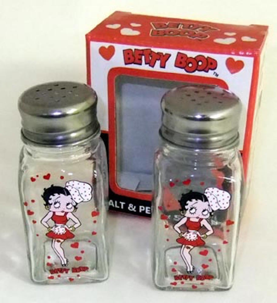Chef Hearts Glass Style by Midsouth Products Betty Boop Kitchen Salt /& Pepper Shakers