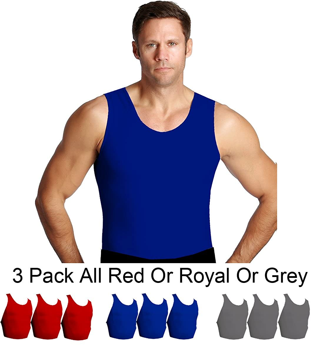 The Magic is in The Fabric MS0003 Insta Slim 3 Pack Muscle Tank