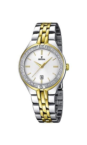 Festina F16868/1 - Reloj analógico de Pulsera para Mujer (Mecanismo de Cuarzo,
