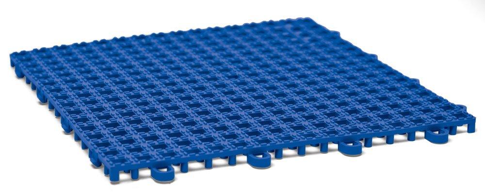 DuraGrid DNS12ROYB Non-Slip Interlocking Modular Multi-Use Safety Floor Matting (12 Pack), Royal Blue